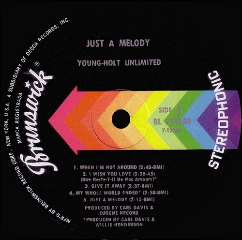 "Young-Holt Unlimited : Album "" Just A Melody "" Brunswick Records BL-754150 [US]"