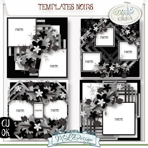 TEMPLATES NOIRS BY MLDESIGN