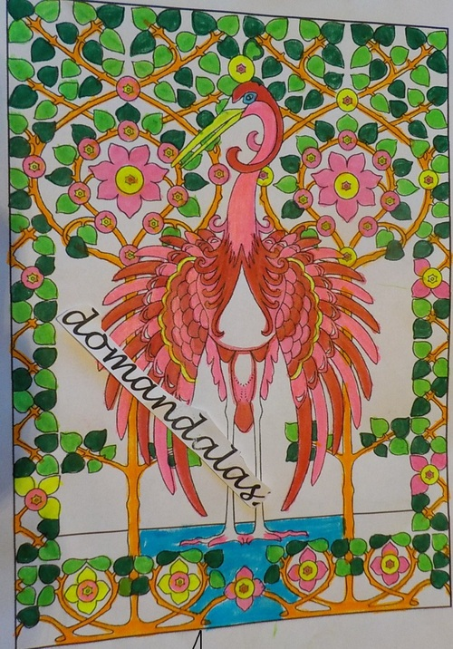 DOMANDALAS  coloriages art nouveau animal designs Marty Noble