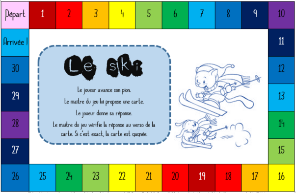 Vocabulaire: le ski