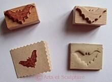 Tampons à imprimer en bois artisanaux - Arts et Sculpture: sculpteur, artisan d'art