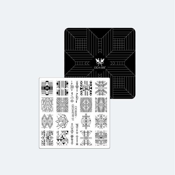 Nail Art Stamping plate  Moyou Minimal 06 et 10