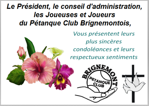 Le P.C Brignemontois en Deuil