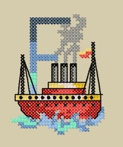 Alphabet de la mer : le F.