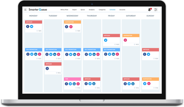 SmarterQueue saves you hours when scheduling your social updates