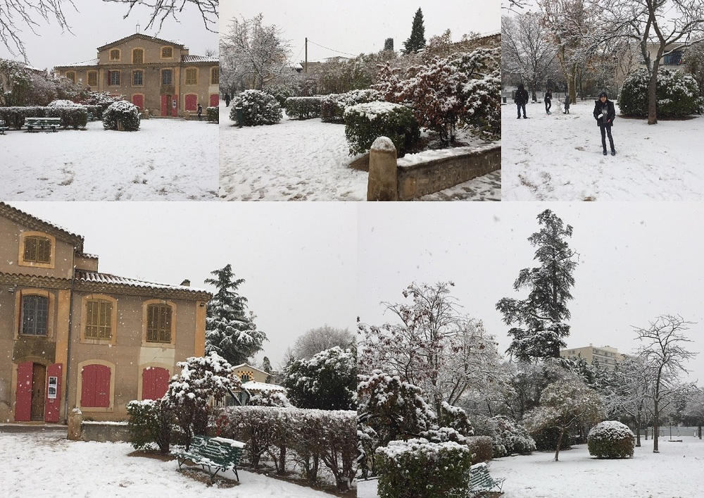 Samedi 2 décembre 2017, La Mareschale sous la neige, c'est si rare :))