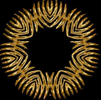 Cadres or série 5, zig-zag
