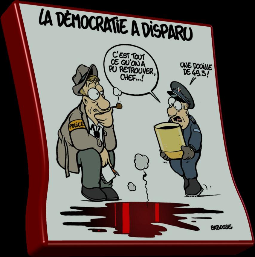 La démocratie à disparu..!
