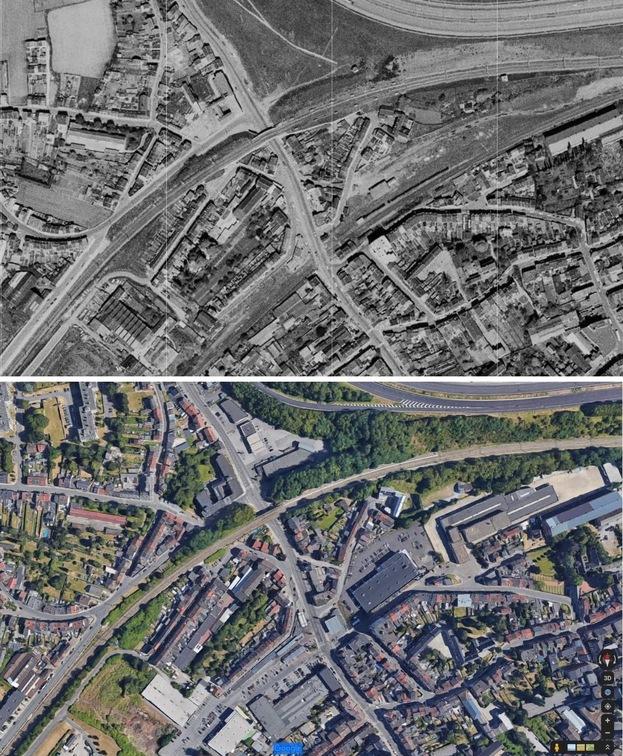Jemeppe, gare et environ (1969-1970)