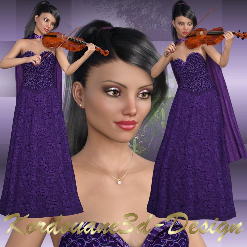 Selena : 3 tubes de femme violoniste (image-png)