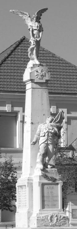 1914 1918 Monument aux mort AZUR, ange et poilu