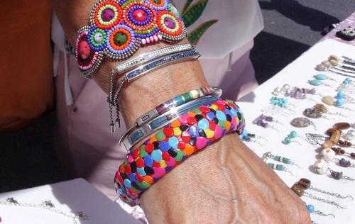 bracelet coloré en pâte fimo