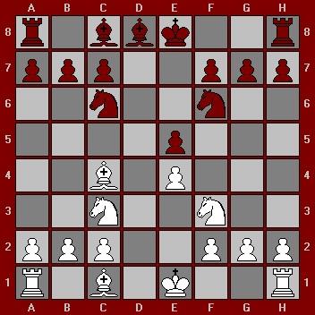 La défense Hongroise : 3. ... Fe7