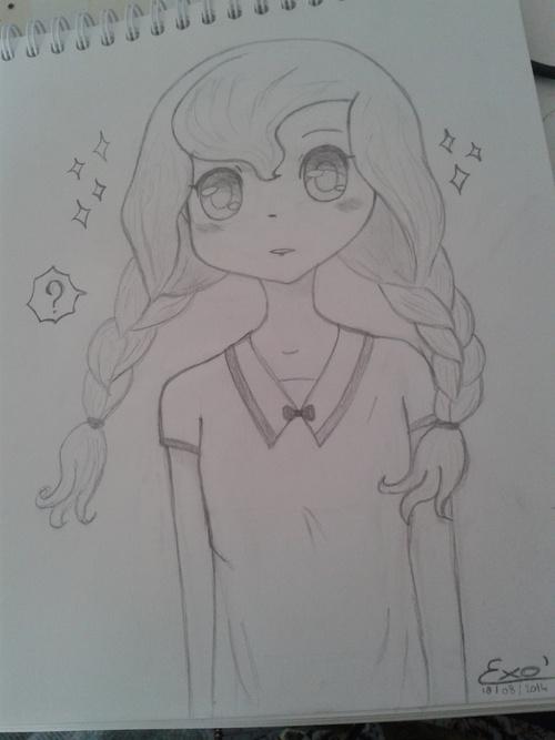 "Dessin ""Fille Manga"" #10"