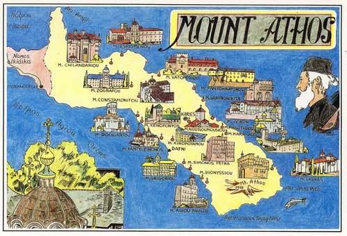 Patrimoine mondial de l'Unesco : Le mont Athos - Grèce -