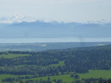 Vue du sommet - Panorama à 360° - Les Alpes et le Lac Léman