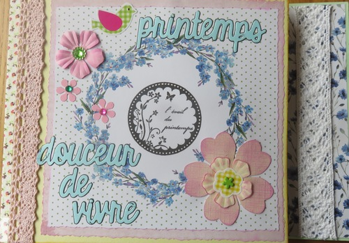 scrap : mini album printemps avec VKG