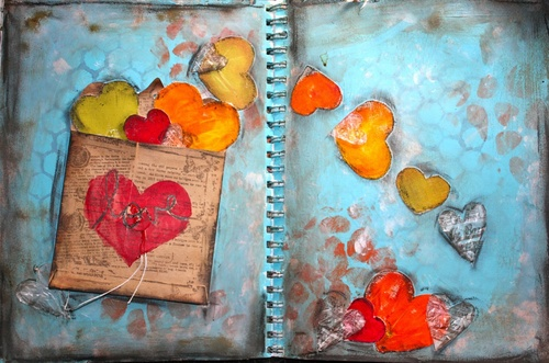 "Tutoriel - Mixed Media & Art Journal ""Love"" by Limor Webber"