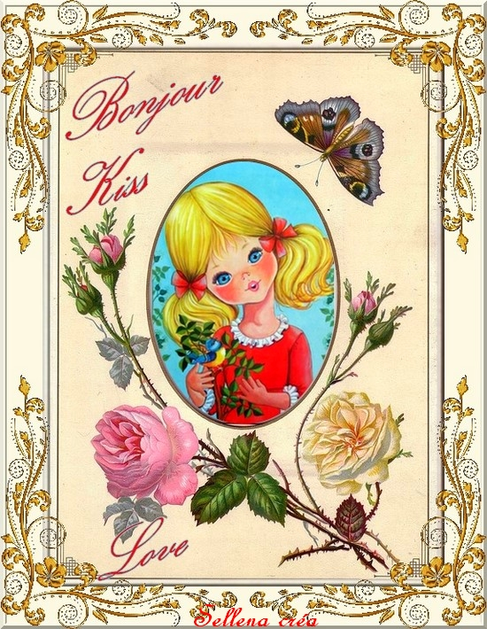 *Bonjour, kiss & love*