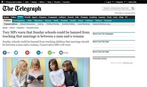 Royaume-Uni : Bientôt des inspecteurs infiltrés dans les églises pour empêcher l'enseignement du mariage traditionnel ?