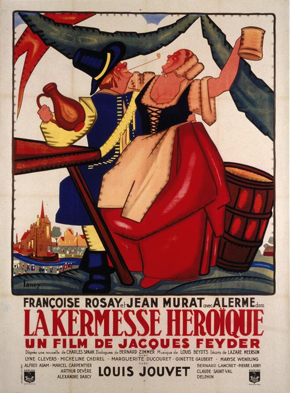 Affiche signée Bernard Lancy, fonds CF