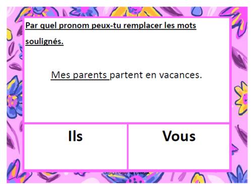 Ateliers pronoms