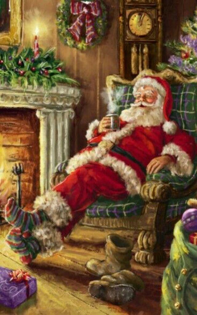 la nuit de Noël et petit papa Noël et ses joujoux