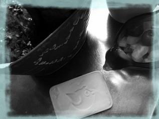 marque à beurre en buis personnalisée pour l'Hotel La Jabotte - Arts et Sculpture, sculptrice sur bois, artisan d'art