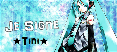 Signature de mon blog de Miku Hatsune
