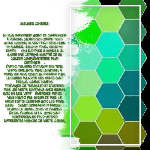 Dessin et peinture - vidéo 3525 : Comment préparer et utiliser la couleur verte dans un paysage ? - huile ou acrylique.