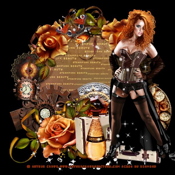 "Tutoriel ""Steampunk Beauty - PTU"" de Rhonda's Rockin' Designz"