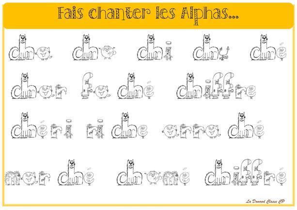 Alphas [ch], [f], [m], [r]