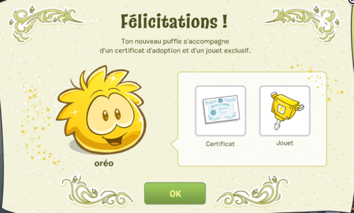 Guide puffle d'or