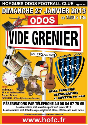 vide-greniers du Horgues Odos Football-Club
