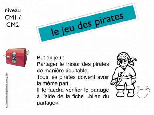 Le jeu des pirates pour aborder la division