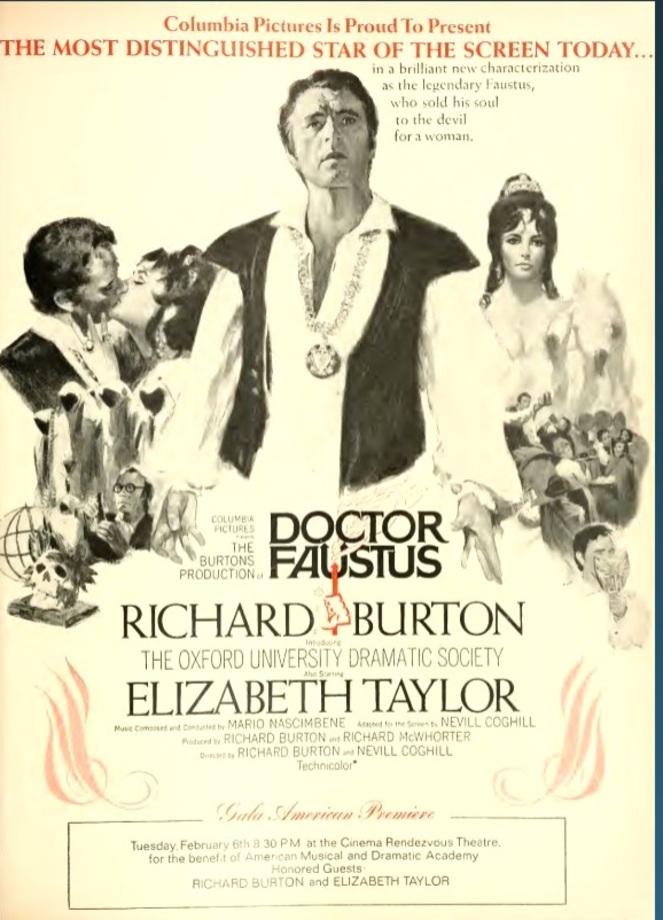 DOCTOR FAUSTUS box office usa 1968