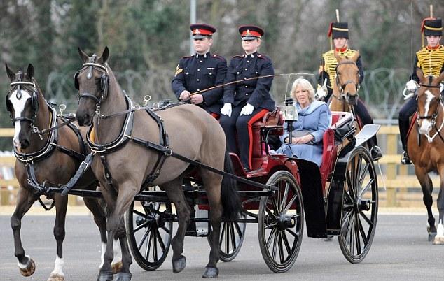 Camilla et l'artillerie