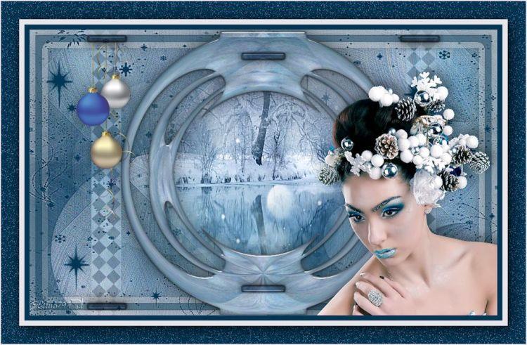 "Nouveau tuto "" Blue christmas """