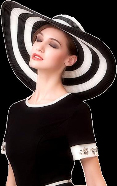 Tubes femmes chapeaux création 15