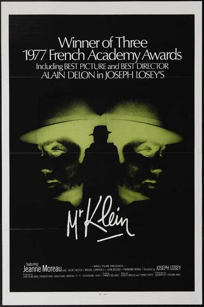 MONSIEUR KLEIN -  ALAIN DELON BOX OFFICE 1976