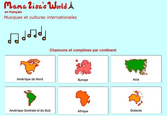 Tour du monde : chansons et comptines par continent ...