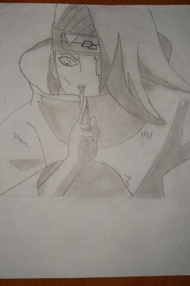 mon dessin de deidara