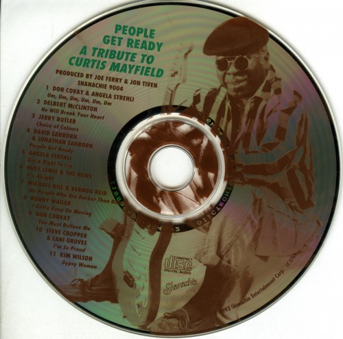 "1993 : CD "" People Get Ready : A Tribute To Curtis Mayfield "" Sanachie Records 9004 [ US ]"