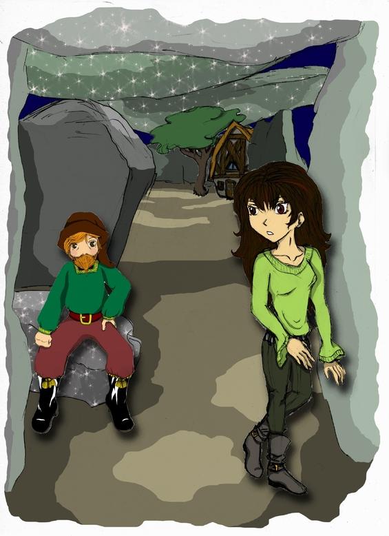 Une illustration de Lilou et Thaïyalid par Maëliss, 14 ans