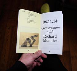 Conversation avec Richard Monnier, exposition.