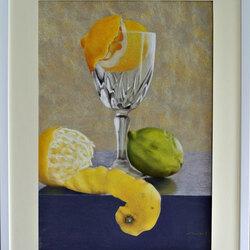 Les citrons 50 x 70  Sylvie Marin Durand