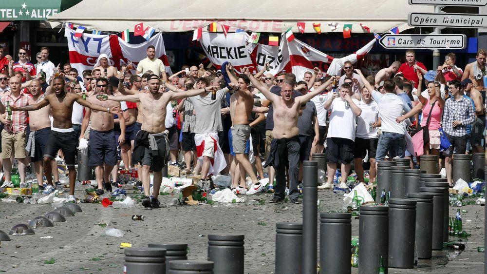 Supporters anglais à Marseille, samedi 11 juin.
