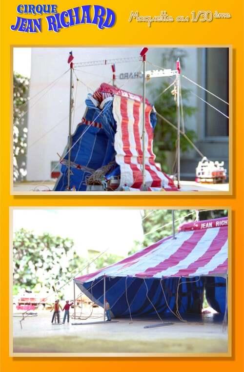 maquette du cirque Jean Richard au 1/30 de David Chazel