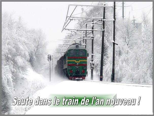 Saute dans le train.