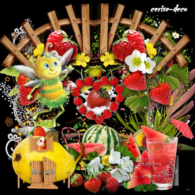 vos participations2 au cluster de la semaine : les fruits et l'été